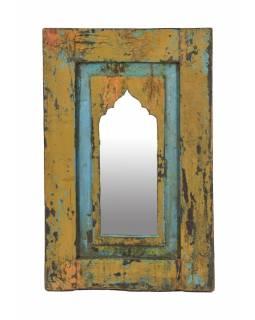 Zrcadlo v rámu z teakového dřeva, 35x3x54cm