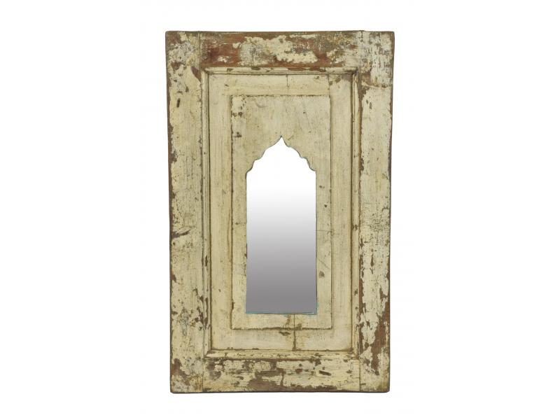 Zrcadlo v rámu z teakového dřeva, 39x3x63cm
