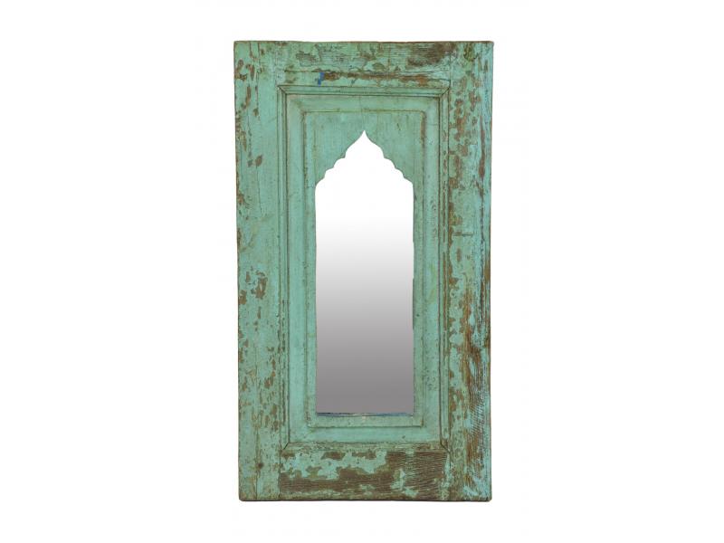 Zrcadlo v rámu z teakového dřeva, 38x3x66cm