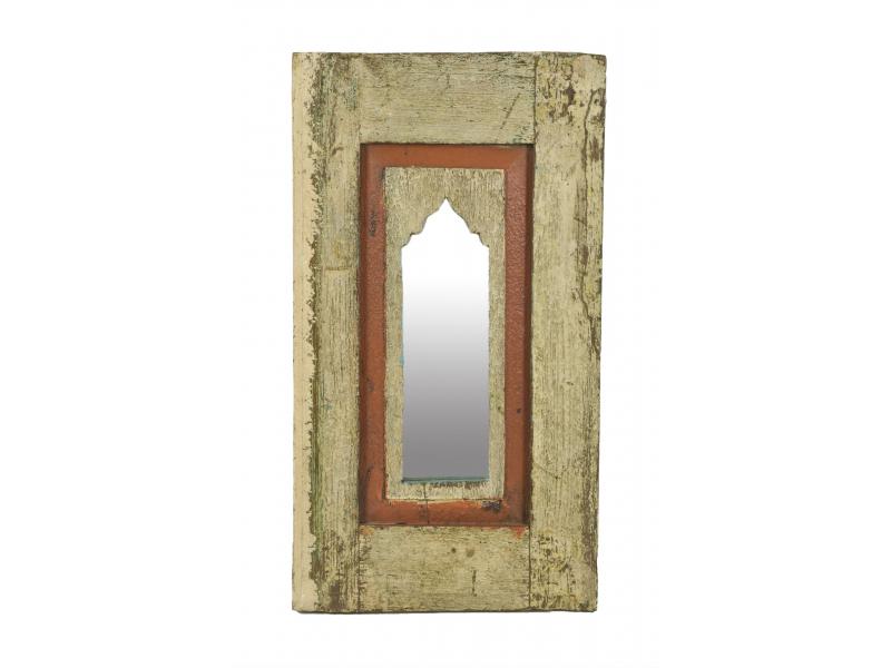 Zrcadlo v rámu z teakového dřeva, 35x3x63cm