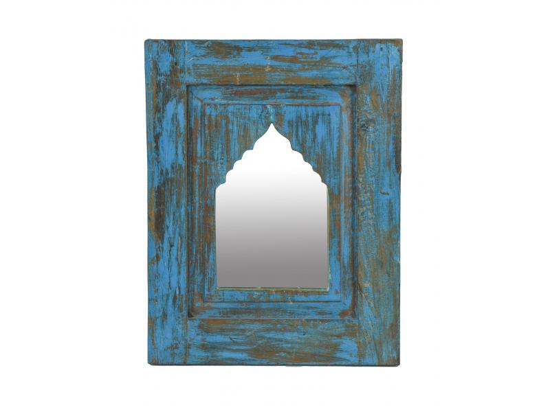 Zrcadlo v rámu z teakového dřeva, 37x3x47cm