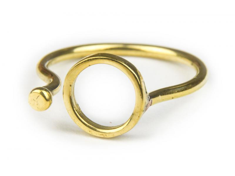 Prsten, kolečko, otevřený, postříbřený (10µm)