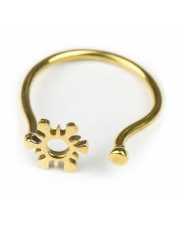 Prsten, vločka, otevřený, postříbřený (10µm)