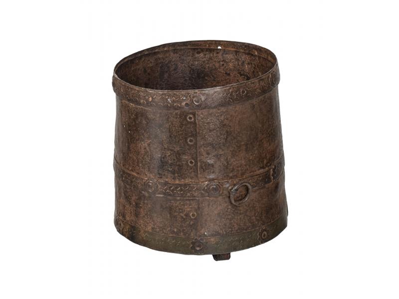 Starožitná kovová nádoba, 21x21x23cm