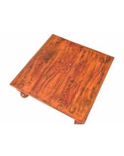 Starý čajový stolek z teakového dřeva, 58x58x21cm