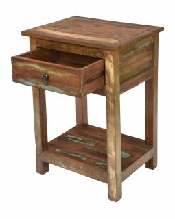 Noční stolek v Goa stylu, šuplík, 50x40x75cm
