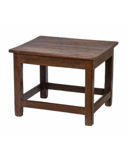 Stolek/stolička z teakového dřeva, 60x52x47cm