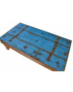 Konferenční stolek z teakového dřeva, 168x90x48cm