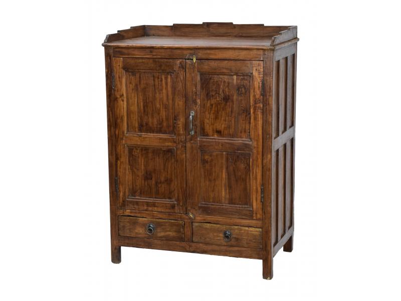 Starožitná skříň z teakového dřeva, 80x48x110cm