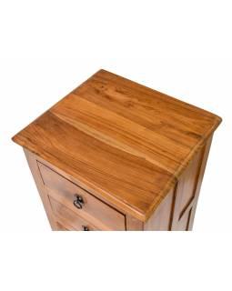 Šuplíková komoda z teakového dřeva, 45x40x84cm