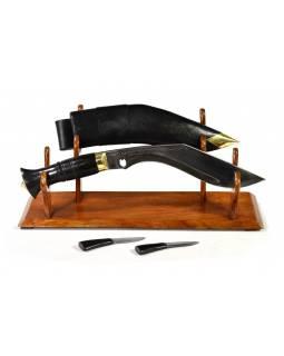 """Khukri nůž Balance 9"""", dřevěná rukojeť, celý nůž 36cm, čepel 23cm"""