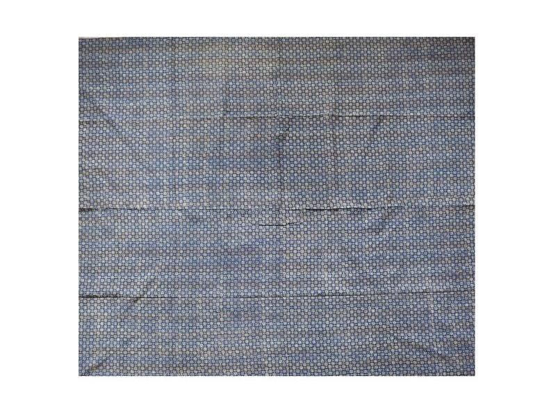 Přehoz na postel, modrý, block print, ruční práce, prošívaný,  225x260cm
