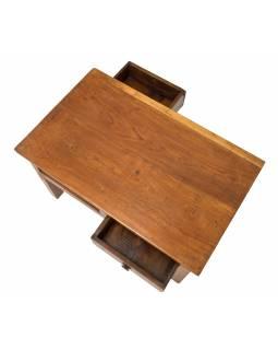 Starý kupecký stolek z teakového dřeva, 77x46x46cm