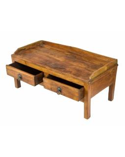 Starý kupecký stolek z teakového dřeva, 75x35x34cm