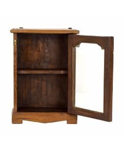 Prosklená skříňka z teakového dřeva, 41x16x57cm