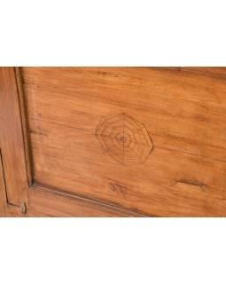 Šatní skříň se zrcadlem vyrobená z teakového dřeva, 67x41x181cm