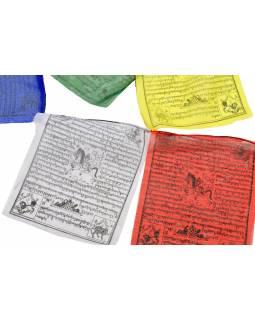 Modlitební praporky, 25x praporků 24x28cm, černý tisk, polyester