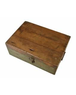 Starožitná truhlička z teakového dřeva, 46x33x17cm