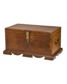 Starožitná truhlička z teakového dřeva, 57x33x28cm