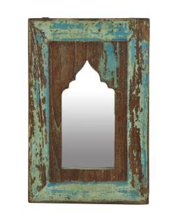 Zrcadlo v rámu z teakového dřeva, 26x1x41cm