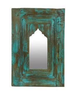 Zrcadlo v rámu z teakového dřeva, 37x5x55cm
