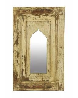 Zrcadlo v rámu z teakového dřeva, 38x5x62cm
