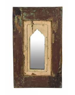 Zrcadlo v rámu z teakového dřeva, 37x5x60cm