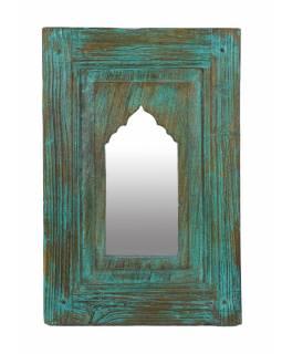 Zrcadlo v rámu z teakového dřeva, 35x5x53cm