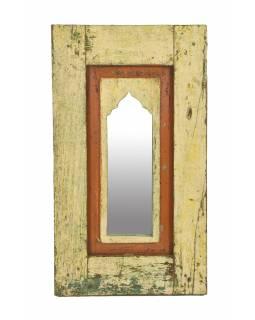 Zrcadlo v rámu z teakového dřeva, 35x5x61cm