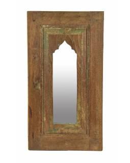 Zrcadlo v rámu z teakového dřeva, 33x5x60cm