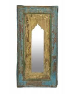 Zrcadlo v rámu z teakového dřeva, 34x5x68,5cm