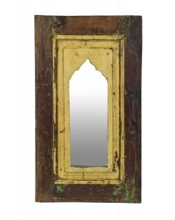 Zrcadlo v rámu z teakového dřeva, 36x5x63cm
