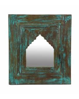 Zrcadlo v rámu z teakového dřeva, 42x5x47,5cm