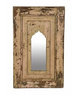 Zrcadlo v rámu z teakového dřeva, 39x5x63cm