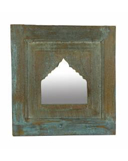 Zrcadlo v rámu z teakového dřeva, 48x5x51cm