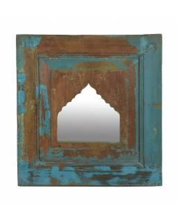 Zrcadlo v rámu z teakového dřeva, 49x5x51cm