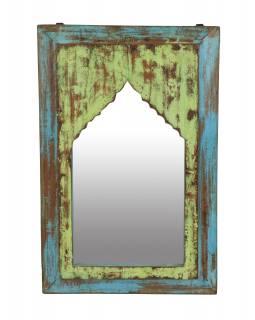 Zrcadlo v rámu z teakového dřeva, 37x5x56cm