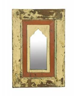 Zrcadlo v rámu z teakového dřeva, 35,5x3x52,5cm