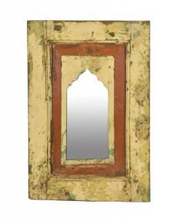 Zrcadlo v rámu z teakového dřeva, 35x3x52cm