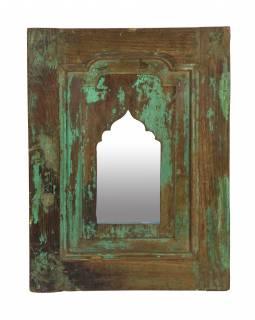 Zrcadlo v rámu z teakového dřeva, 39x3,1x50cm