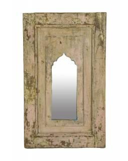 Zrcadlo v rámu z teakového dřeva, 38x3x63cm