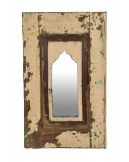 Zrcadlo v rámu z teakového dřeva, 37x3x60cm
