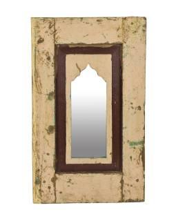 Zrcadlo v rámu z teakového dřeva, 36x3x60cm