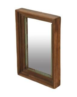 Rám se zrcadlem z teakového dřeva, 29x6x42cm