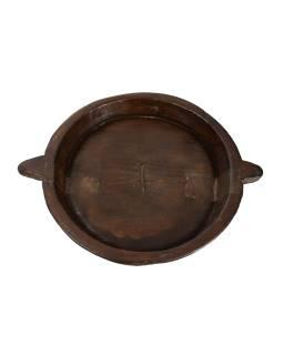 Dřevěná mísa z mangového dřeva vydlabaná z jednoho kusu, 51x41x8cm