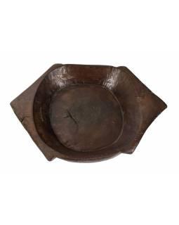 Dřevěná mísa z mangového dřeva vydlabaná z jednoho kusu, 55x38x10cm