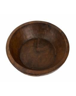 Dřevěná mísa z mangového dřeva vydlabaná z jednoho kusu, 43x43x15cm