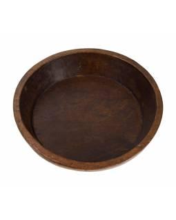 Dřevěná mísa z mangového dřeva vydlabaná z jednoho kusu, 39x39x10cm