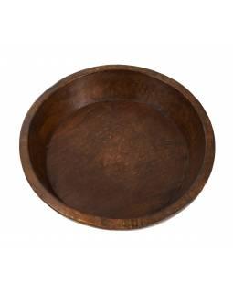 Dřevěná mísa z mangového dřeva vydlabaná z jednoho kusu, 41x41x10cm