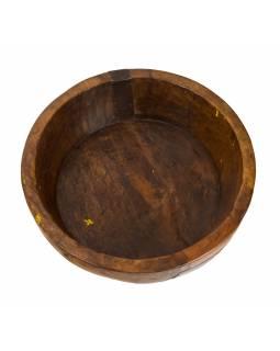 Dřevěná mísa z mangového dřeva vydlabaná z jednoho kusu, 38x38x12cm